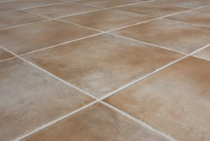 Ceramic tile background. Close-up of newly installed tile with